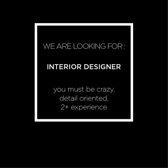 Send your CV & Portfolio to : hello@mdesign.co.id